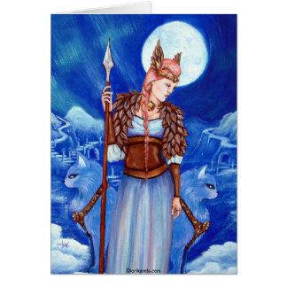 Freya Skandinavier-Göttin Karte