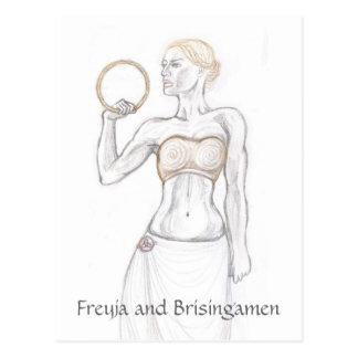 Freyja und Brisingamen Postkarte