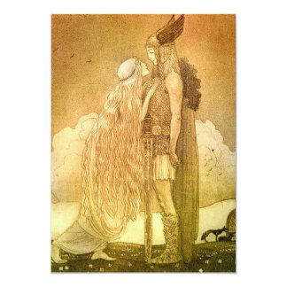Freyja und Svipdag durch John Bauer 1911 12,7 X 17,8 Cm Einladungskarte