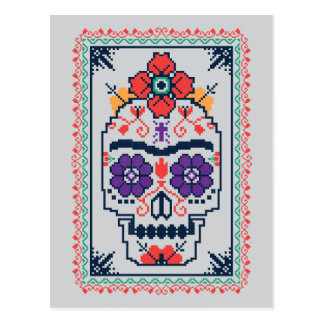 Frida Kahlo   Calavera Postkarte