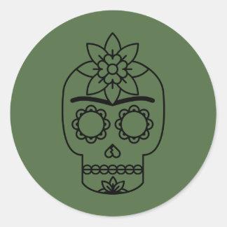 Frida Kahlo   Coyoacán Runder Aufkleber
