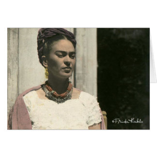 Frida Kahlo erröten Fotografie Karte