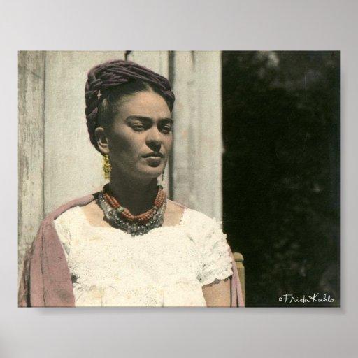 Frida Kahlo erröten Fotografie Poster
