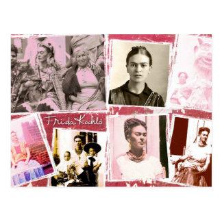 Frida Kahlo FotoMontage Postkarte