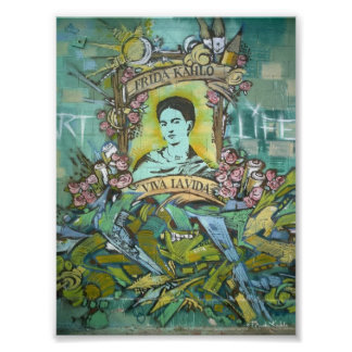 Frida Kahlo-Graffiti Poster