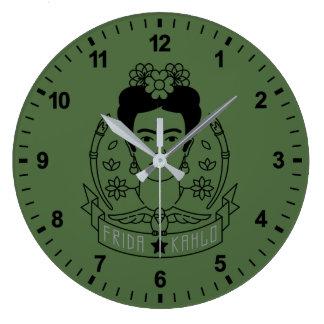 Frida Kahlo   Heroína Große Wanduhr
