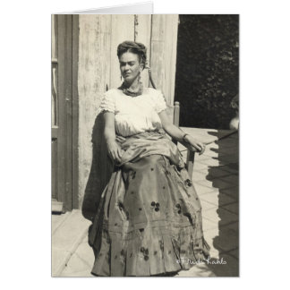 Frida Kahlo in Sun Grußkarte