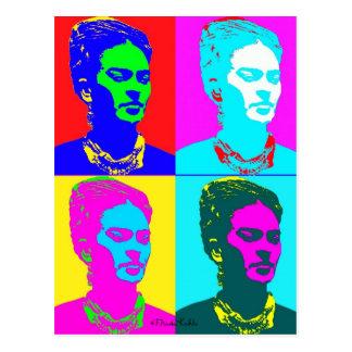 Frida Kahlo inspiriertes Porträt Postkarte
