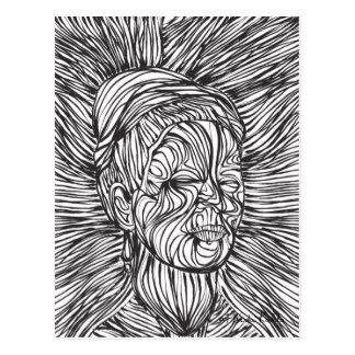 Frida Kahlo-Linien Porträt Postkarte