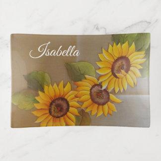 Frida Kahlo malte Sonnenblumen Dekoschale