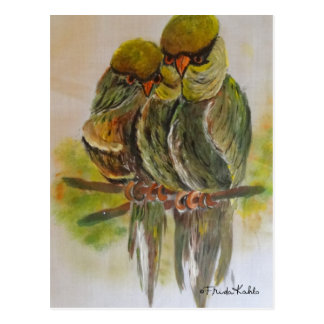 Frida Kahlo malte Vögel Postkarte