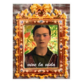 Frida Kahlo Reflejando Postkarte