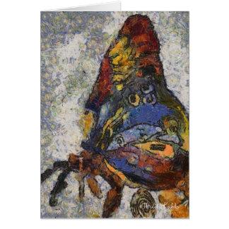 Frida Kahlo Schmetterling Monet inspiriert Karte