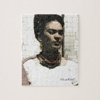 Frida Kahlo-Textilporträt Foto Puzzle