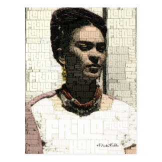 Frida Kahlo-Textilporträt Postkarte