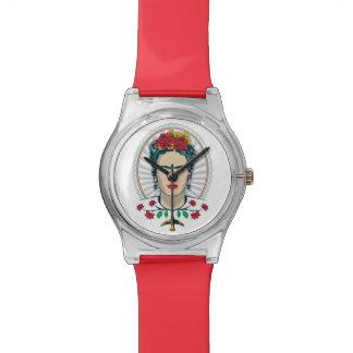 Frida Kahlo | Vintages Blumen Armbanduhr
