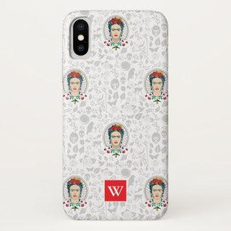 Frida Kahlo | Vintages Blumen iPhone X Hülle