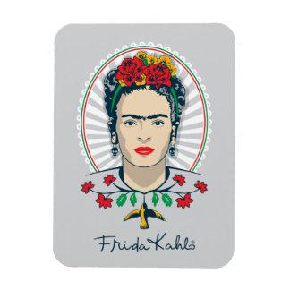 Frida Kahlo   Vintages Blumen Magnet