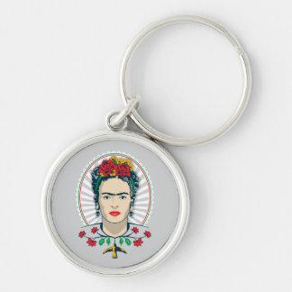 Frida Kahlo | Vintages Blumen Schlüsselanhänger