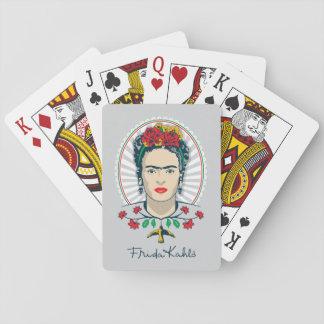 Frida Kahlo   Vintages Blumen Spielkarten