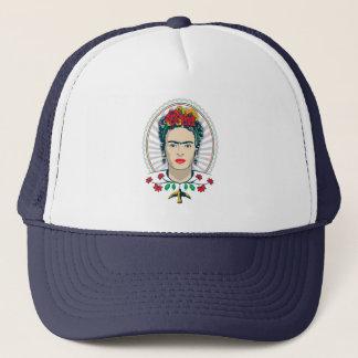 Frida Kahlo | Vintages Blumen Truckerkappe