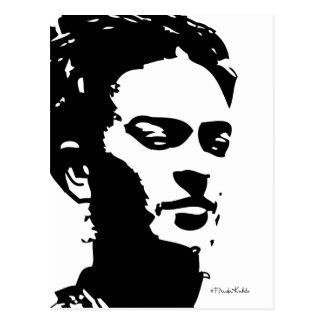 Frida Schatten-Porträt Postkarte