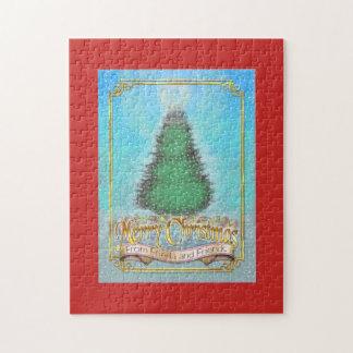 Frieda Schwanz-Weihnachtspuzzlespiel - Schnee Puzzle