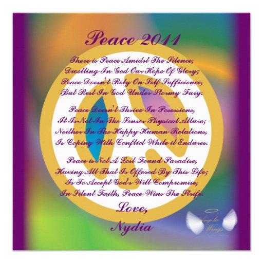 Frieden 2011, ein Gedicht Karte-Fertigen besonders Personalisierte Ankündigung