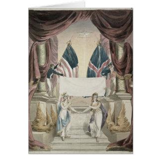 Frieden, Allegorie des Vertrags von Gent Karte