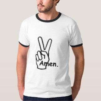 Frieden amen. Die T der Männer T Shirt