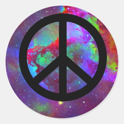 Frieden Runder Sticker