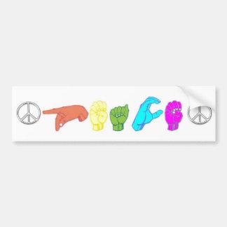 Frieden Autoaufkleber