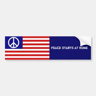 Frieden beginnt zu Hause Autosticker