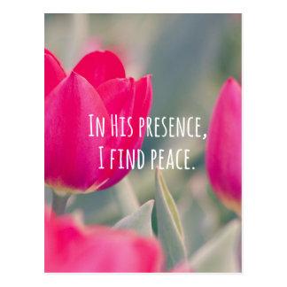Frieden des Inspirational der christliche Postkarte