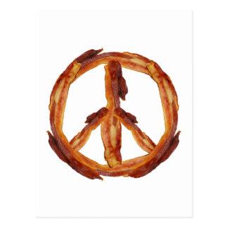 Frieden des Speckes Postkarte
