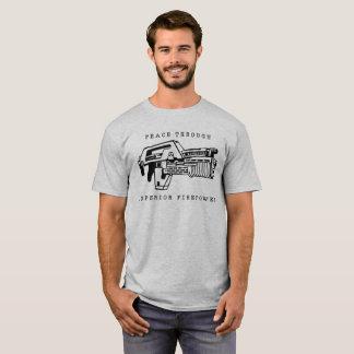 Frieden durch die Feuerkraft gesehen in der T-Shirt