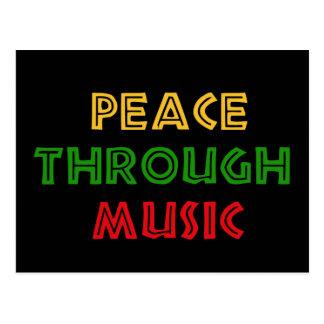 Frieden durch Musik Postkarte