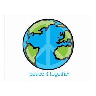 Frieden fertigt es zusammen Produkt besonders an Postkarte