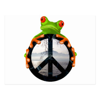 Frieden frog1 postkarte
