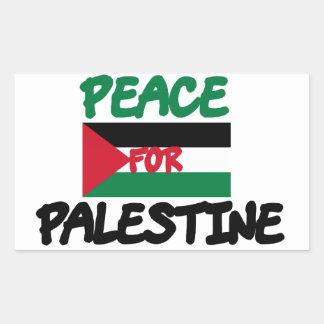 Frieden für Palästina Rechteckiger Aufkleber