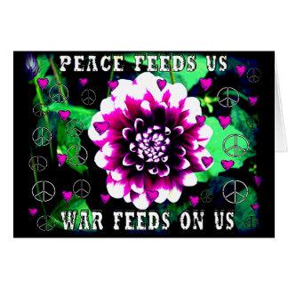 Frieden füttert uns karte