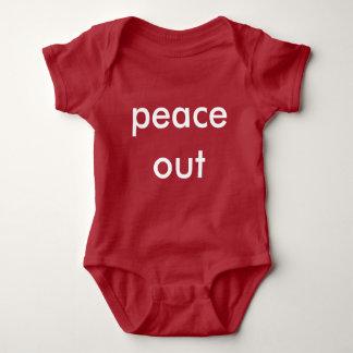 Frieden heraus baby strampler