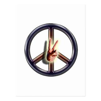 Frieden heraus postkarte