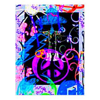 Frieden heraus Susie Postkarte