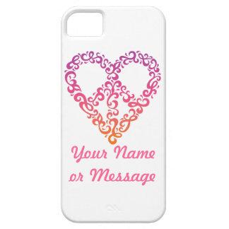 Frieden-Herz iPhone 5 Abdeckung Hülle Fürs iPhone 5