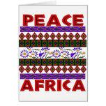 Frieden in Afrika Karte