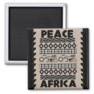 Frieden in Afrika Quadratischer Magnet