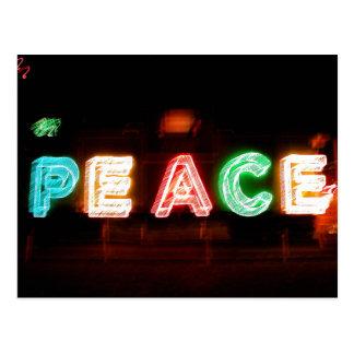 Frieden in der Lichtpostkarte Postkarte