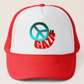 Frieden in Gazaknöpfen und -T - Shirts Truckerkappe