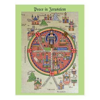 Frieden in Jerusalem-Postkarte Postkarte